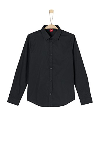 s.Oliver Red Label Junior Jungen Slim: Klassisches Baumwollhemd Black S.Slim (Label Jungen Red)