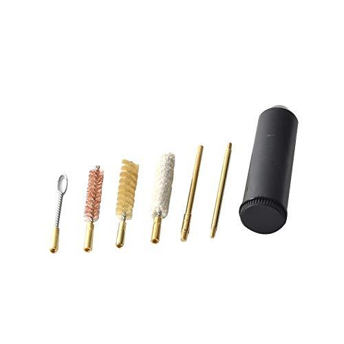 LSB-Hunting, 7pcs / Set pour Outils de Nettoyage de Pistolet Professionnel de Pistolet Format Poche pour Pistolets Cal.38/357 / 9mm Accessoires de Chasse