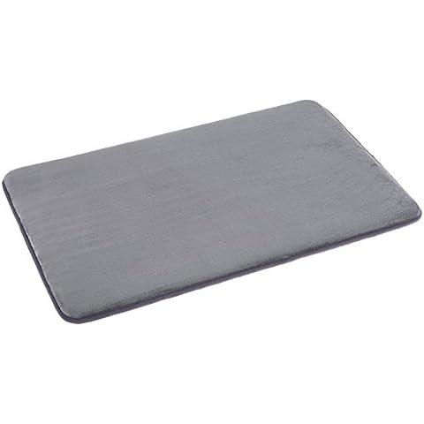 AmazonBasics - Alfombrilla de baño de espuma con memoria, 46 x 71 cm, gris