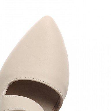 LFNLYX Donna tacchi Primavera Estate Autunno altri Comfort Novità Slingback brevetto sintetico Similpelle Cuoio PUWedding Office & Carriera vestire Beige