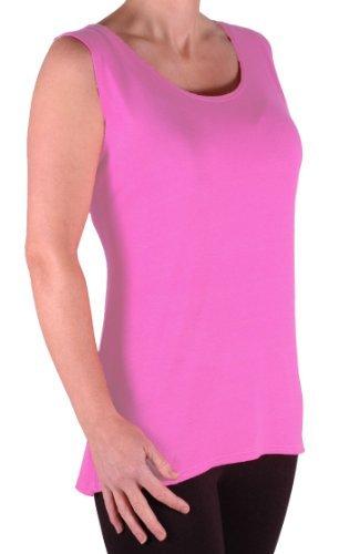 EyeCatch TM - Débardeur long fines bretelles - Virginia - Femme - Grandes Tailles Rose