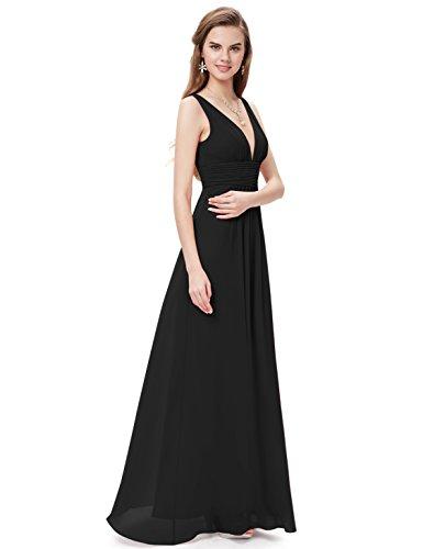 Ever-Pretty Damen Kleid Schwarz