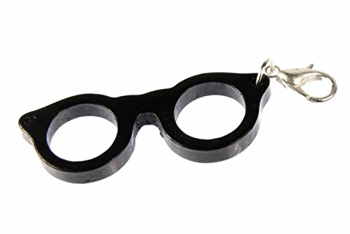 Miniblings Brille Charm Brillencharm Bettelanhänger Brillengestell Hipster Woody