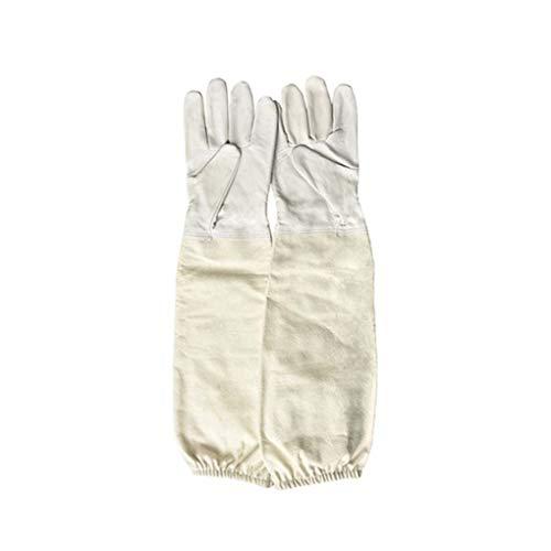 guanti apicoltura 1 paio Apicoltore prevenire i guanti sottile pelle morbida guaine protettive anti Ape Apicoltura Apicoltura Attrezzatura Mailfourn