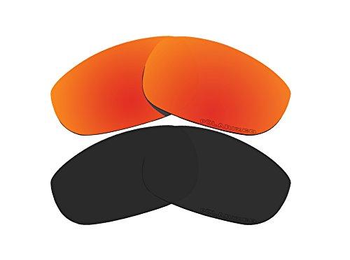 2Paar Polarisierte Ersatz Linsen rot & schwarz für Oakley Fives 4.0Sonnenbrille