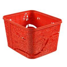 Faltbarer London Box rot Korb 31 x 25,5 x 22,5 cm Aufbewahrungsbox Wäschekorb Kunststoff (Rote Kunststoff-wäschekorb)