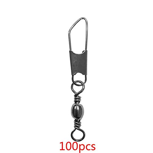 25 Noir Snap émerillons baril Swivel With Safety Snap Taille 14 Snaps Quick Clip