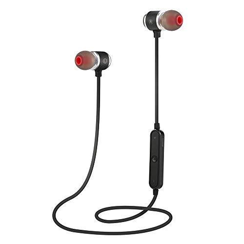 Yigatech Bluetooth Kopfhörer In Ear Sport V4.1, Schweißresistent magnetischer Sport Ohrhörer mit 10 Meter Reichweite, eingebautes Mikrofon für iPhone, Samsung usw. (Schwarz) -