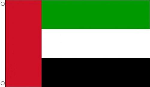 5ft x 3ft (150x 90cm) Vereinigten Arabischen Emirate UAE 100% Polyester Material Flagge Banner Ideal für Pub Club Schule Festival Business Party Dekoration