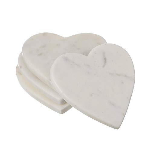 Posavasos hechos a mano con forma de corazón de...