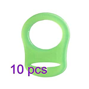 10 Pcs Silicone Baby Dummy Pacifier Holder Clip Adapter for MAM Rings