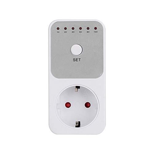 EdBerk74 Mini LED 230V 16A 1h-10h Countdown Timer Switch Socket Outlet Plug-in Time Control for Kitchen Electric Appliance EU Plug -