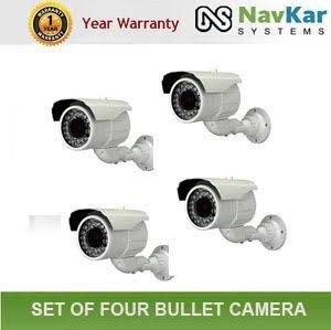 Navkar Set Of 4 Ahd Ir Dome 36 Led 1 Megapixel 1 Yr Warranty Night Vision Security Cctv Camera