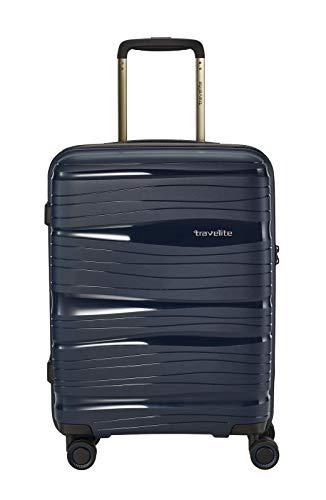 """Travelite Leichter, robuster und beweglicher Rollen-Reisekoffer Trolley \""""Motion\"""" mit Hartschalen in 4 Farben Koffer, 37 Liter, Marine"""