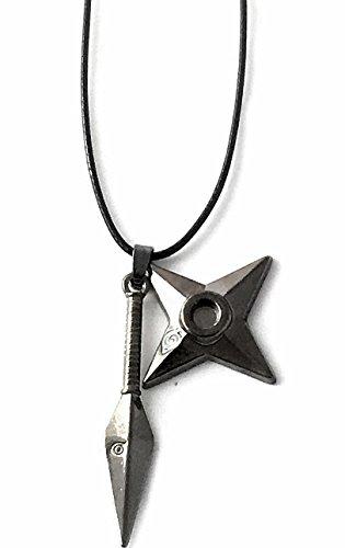 (Naruto Konoha sword Waffen Accessoires Cosplay Halskette Halsschmuck Halsanhänger Schmuck Kette cosplay Manga Accessoires steel Stahl Neuheit Design Schmuck)