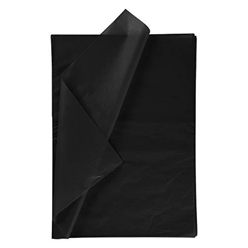 RUSPEPA Geschenkpapier Seidenpapier - schwarz Seidenpapier für Heimarbeit Bastelarbeit Geschenkverpackung - 50 x 70 cm - 25 Blatt