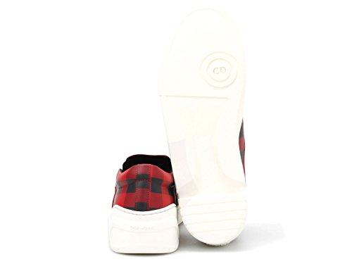 ... Slips-on basket Dior homme en cuir rouge et noir - Code modèle   3SN178XGW 88d7b5024b1