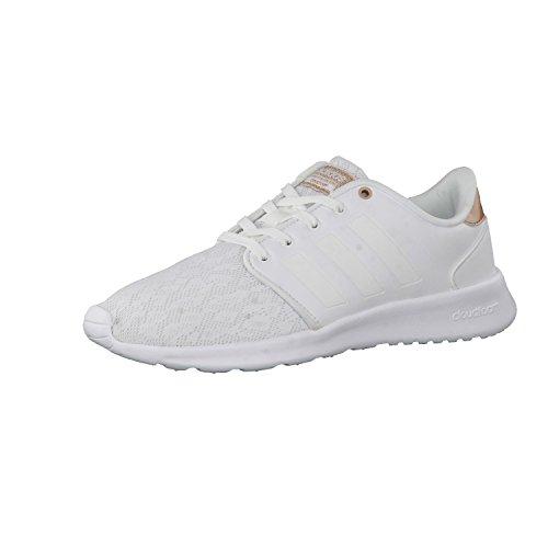 adidas Cloudfoam Qt Racer, Sneakers Basses Femme Ftwr White/Ftwr White/Copper Met.