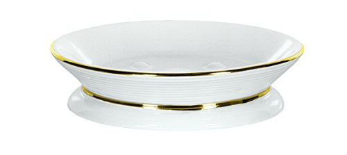 Weiße Ascot (Kleine Wolke 5083516853 Seifenschale Ascot, Bad-Accessoires, weiß/Gold)