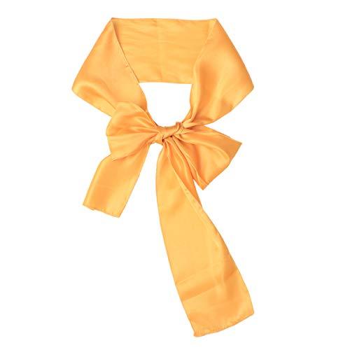Bogen Zurück Stuhl (SUPVOX 10 STÜCKE Stuhlabdeckung Bogen Stuhl Zurück Dekorationen Blume Band für Konferenz Hochzeitsbankett Feier (Helle Gelb))