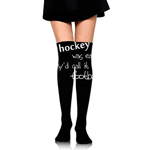 Herren-hockey Compression Legging (quanzhouxuhuixiefu Women Crew Socks Thigh High Over Knee Hockey Football Dress Legging Athletic Compression Stocking 50CM)