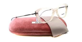 MIU MIU Monture lunettes de vue MU 04LV KAR1O1 Transparent/Argenté 52MM