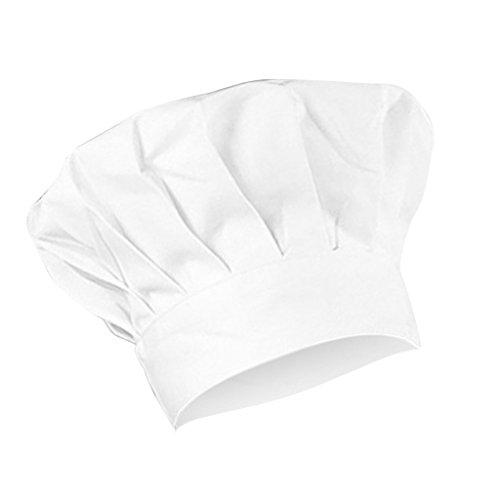 perfk Uomo Donna Cappello Protezione Cappellini Uniforme da Cuoco Chef  Cucina Ristorazione Hat da Lavoro - e109eae66035