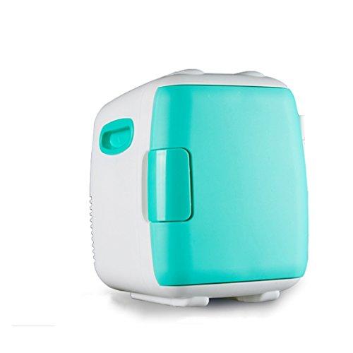 JCOCO Mini frigo silenzioso Raffreddatore e riscaldamento, auto e uso domestico (colore : Green, dimensioni : 4L)