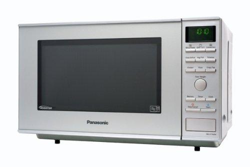Panasonic NN-CF760MEPG Mikrowelle mit Heißluft und Grill / 27 L / 1000 W  / Inverter-Technologie / einbaufähig / Silber