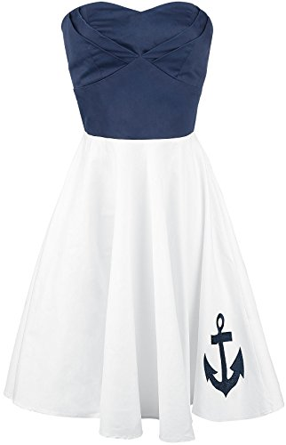 Dolly and Dotty Anchor Dress Abito bianco/blu XL