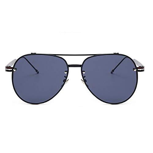 YingYing Ma Unisex polarisierte Sonnenbrille,Sonnenbrille Metallnieten Ovale Sonnenbrille für Damen...