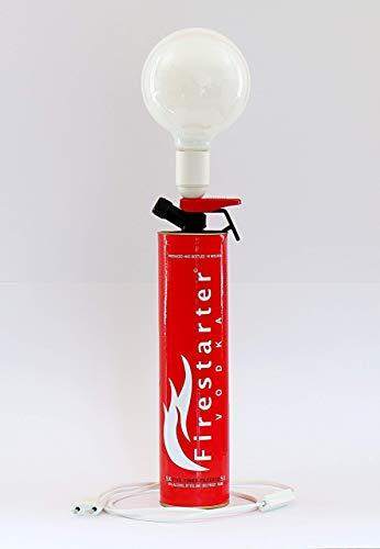 Edison LED Lampe, Boho Tischlampe, moderne Vintage Leuchte aus einer Vodkaflasche - 28 Cm Hoch Tischlampe