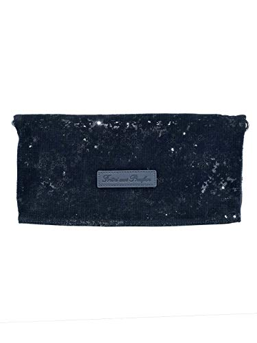 Fritzi aus Preußen Damen Ronja Clas Clutch, Schwarz (Black) 1/Sequin Velvet, 29x15x3 cm