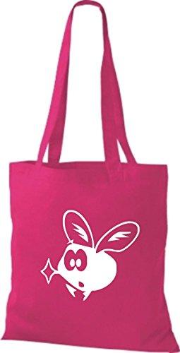 Shirtstown Stoffbeutel Tiere Fliege Mücke pink
