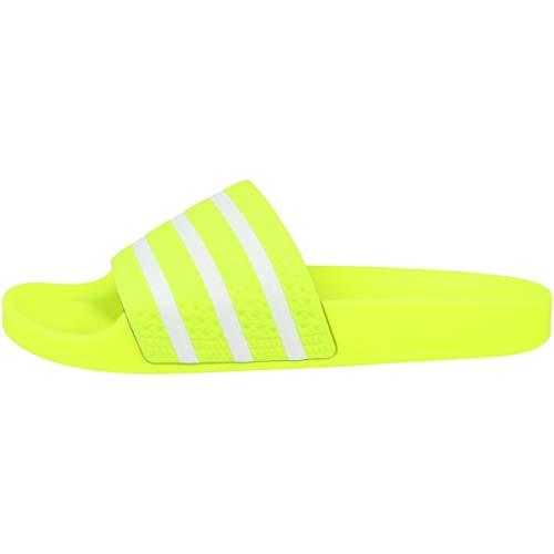 adidas Originals Badelatschen Adilette EE6182 Neon Gelb Weiß, Schuhgröße:37