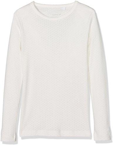 NAME IT Mädchen Langarmshirt NKFVITTE LS XSL TOP NOOS, Weiß (Snow White), 134 (Herstellergröße: 158-164)