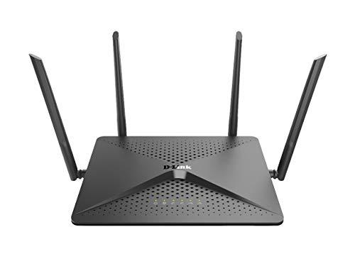 D-Link DIR-882  Router Wi-Fi AC2600 Dual band, 5 Porte Gigabit, 1 Porta USB 3.0 e 1 Porta 2.0, AC SmartBeam, Tecnologia MIMO, Rete Ospiti, Parental Control, Configurazione Semplice, WPS/Reset, Nero