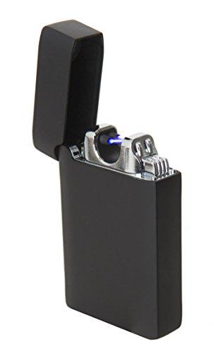 Stärkstes USB Doppel-Lichtbogenfeuerzeug - Elektronisches Feuerzeug mit 800mAh Lithium Akku - Plasmafeuerzeug - SHP premium arc lighter