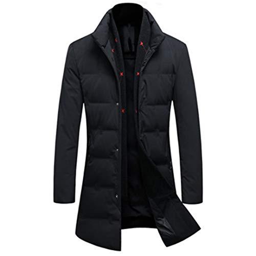 Man&Jenensy Uomo 85% Piuma D'Oca Giacche Classiche Winer Cappotti con Staccabile Sciarpa Calda Addensare Giacche Black XXXL