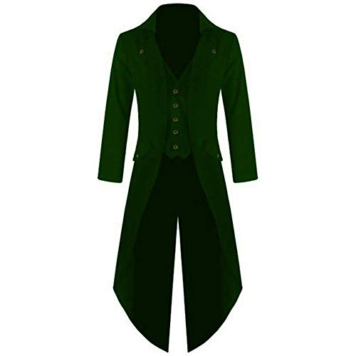 Anywow Herren Gothic viktorianischen Mantel Steampunk Vintage Frack Jacke mittelalterlichen Anzug Jacquard Gehrock Plus Größe