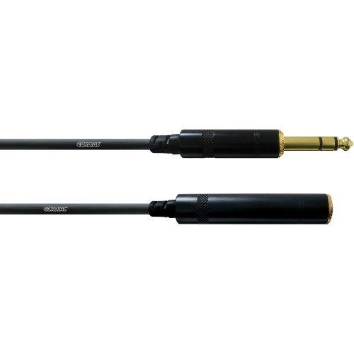INTRO CFM 3 VK Symmetrische Kopfhörer-VerlängerungsKabel, 3m schwarz