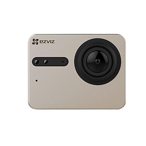 EZVIZ S5 Sport Action Camera 4k, 16 Mp, Custodia Subacquea,touch Screen, 2.4ghz, Doppio Microfono, Ingresso Scheda Sd, Processore Video Ambarella, Champagne Silver