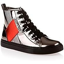 Armani - Zapatillas de charol para mujer plateado plateado