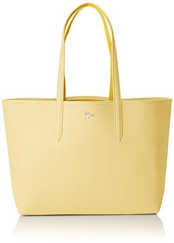 dc41571e855c8 Lacoste Damen Nf2142aa Schultertasche Beige (Pale Banana Yellow) 14x30x35  centimeters