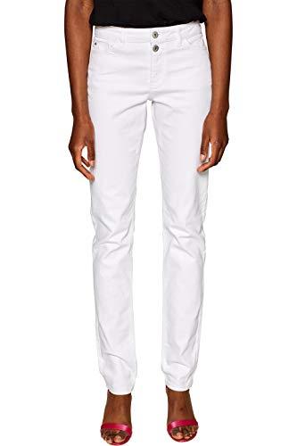 edc by ESPRIT Damen 029CC1B014 Skinny Jeans, Weiß (White 100), W26/L32 (Herstellergröße:26/32) -