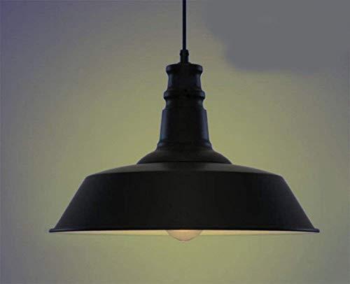 Yan guo home hotel decorazione luci, lampadari vintage creativi coperchi di pentole sala da pranzo soggiorno illuminazione domestica antiquariato industriale bar american iron black 360 * 230mm