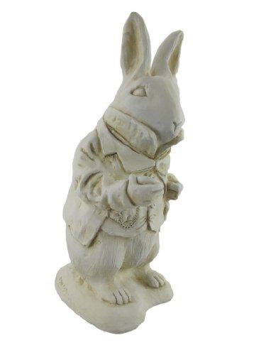 Alice im Wunderland weiß Kaninchen Garten Statue Museum weiß -