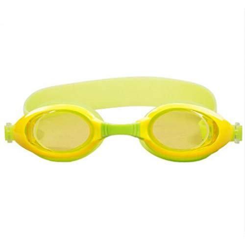 Jameslbj Schutzbrille Kinder Neue Hochauflösende wasserdichte Anti-Fog-Anti-Uv-Auslaufsichere Silikon Jungen Und Mädchen Ausrüstung, Gelb