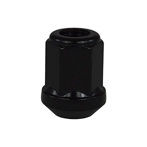 EvoCorse Écrou de roue ouvert M12x1.25, Clé 19, Cône 90°, Longueur 31 mm, Noir galvanisé, 4 pcs