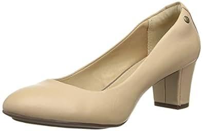 Hush Puppies Imagery, Women's Court Shoes, Beige - Beige - Beige (Nude Leather), 8 UK